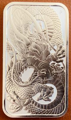 1 Unze Perth Mint Dragon Silver Bar 2021