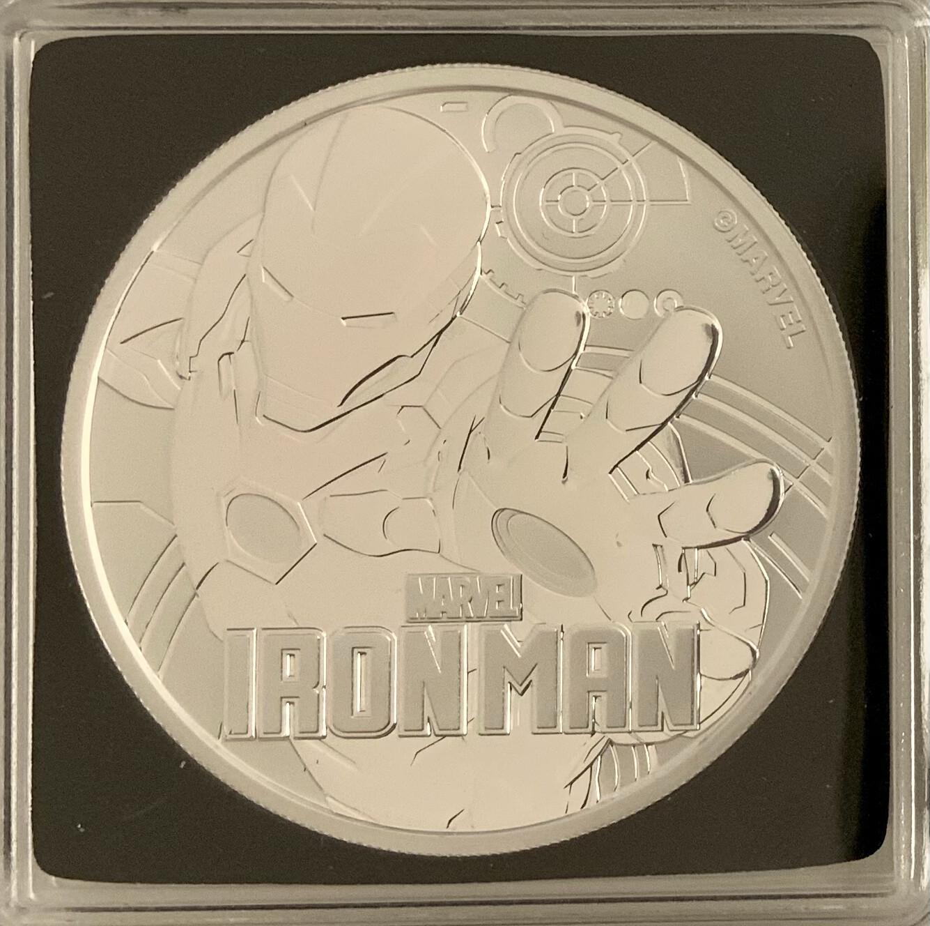 1 Oz Silver - Marvel Iron Man 2018 - Tuvalu