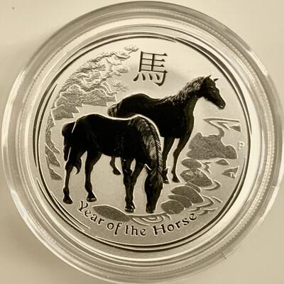 1/2 Unze Silber Australien Lunar II Year of the Horse 2014