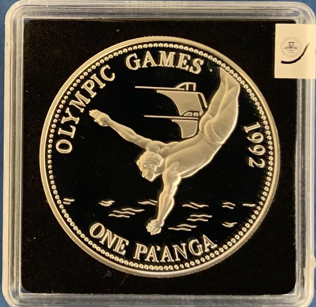 Kingdom of Tonga 1 Pa'anga Olympic Games 1992
