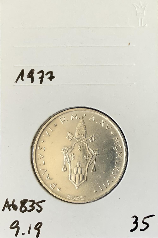 500 Lira Vatican 1977