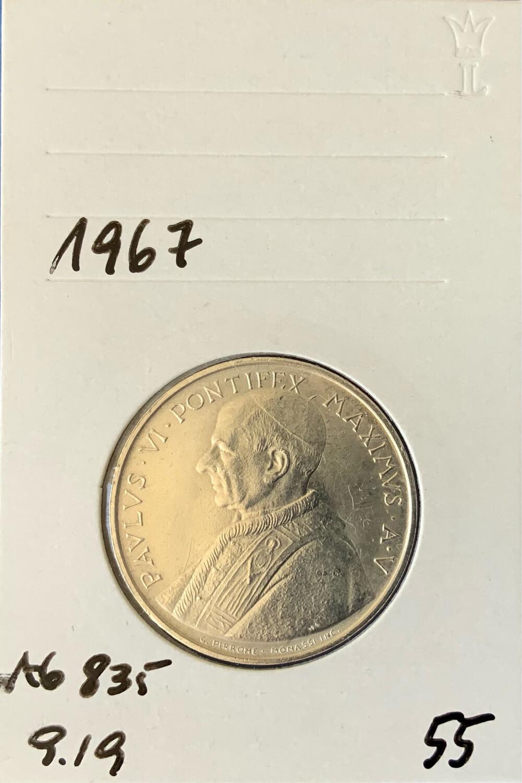 500 Lira Vatican 1967