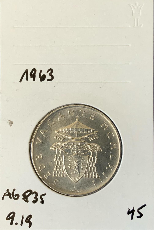 500 Lira Vatican 1963
