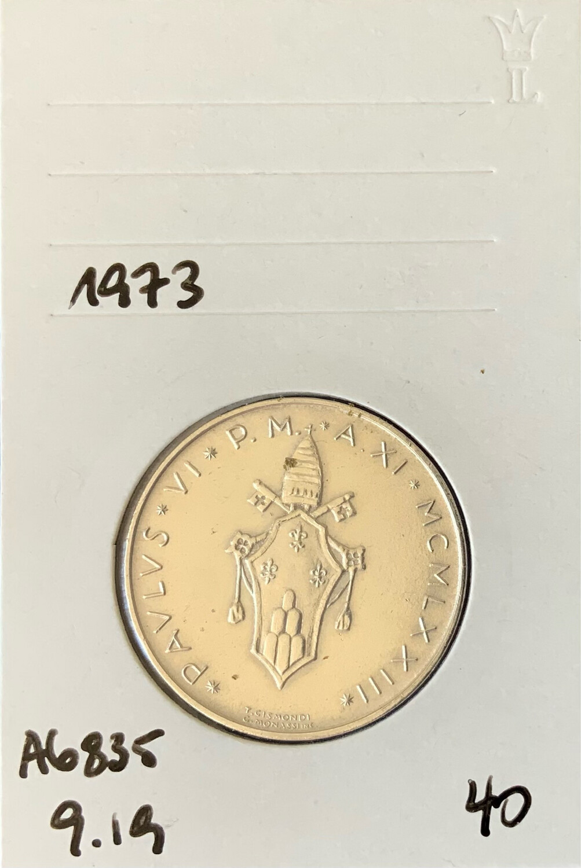 500 Lira Vatican 1973
