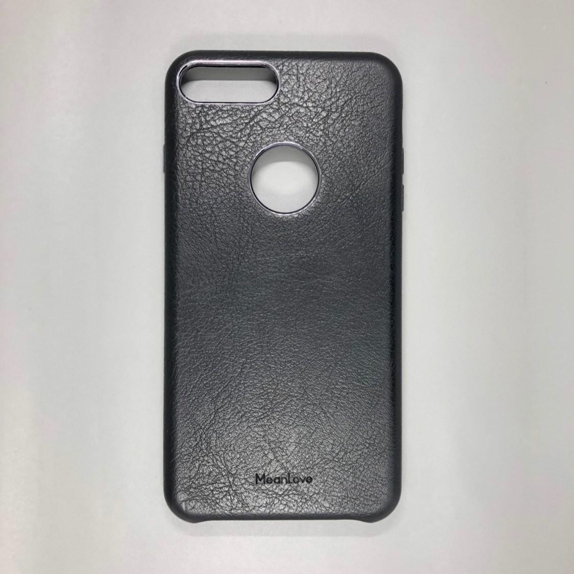 iPhone 7 Plus / 8 Plus MeanLove (кожа, черный)