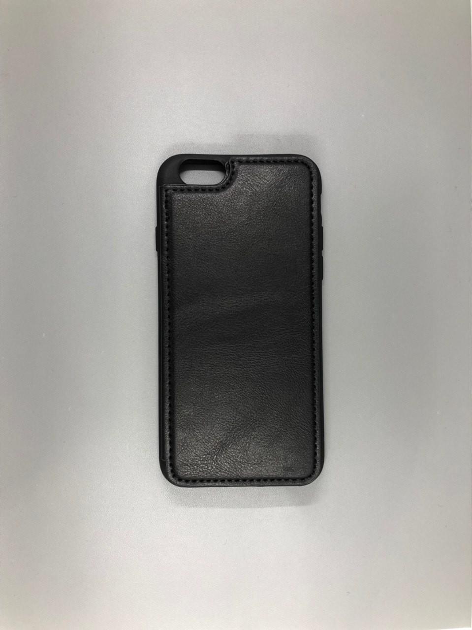 iPhone 7 Leather Black + Визитница