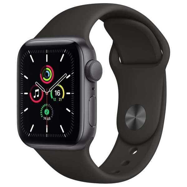 Watch SE 44mm Space Gray Aluminum Case with Black Sport Band