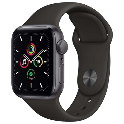 Watch SE 40mm Space Gray Aluminum Case with Black Sport Band