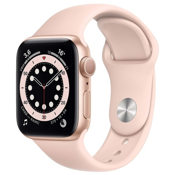 Watch S6 40mm Gold Aluminum Case with Pink Sand Sport Band