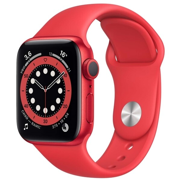Watch S6 40mm PRODUCT(RED) Aluminum Case with PRODUCT(RED) Sport Band