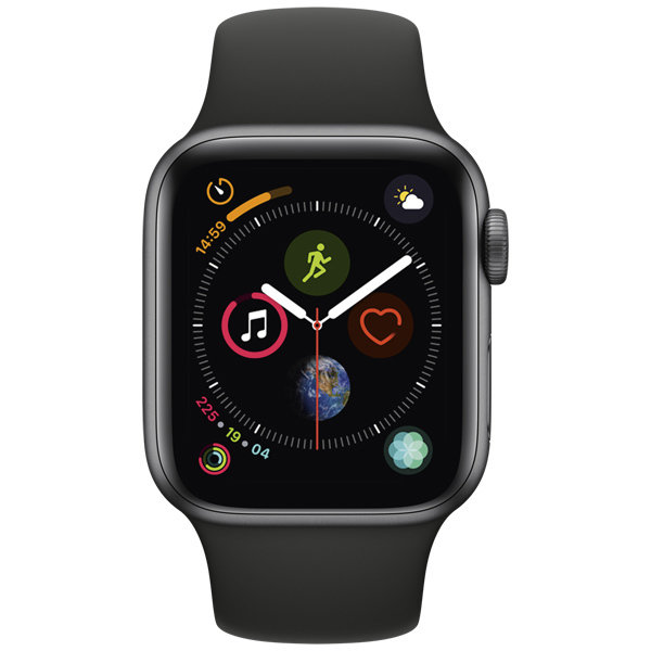 S4 Sport 44mm SpaceGrey Al/Black Sport Band