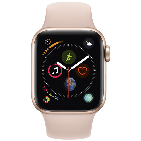 S4 Sport 44mm Gold Al/Pink Sand Sport Band