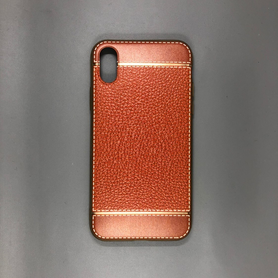 iPhone X Plastic Gold/Brown