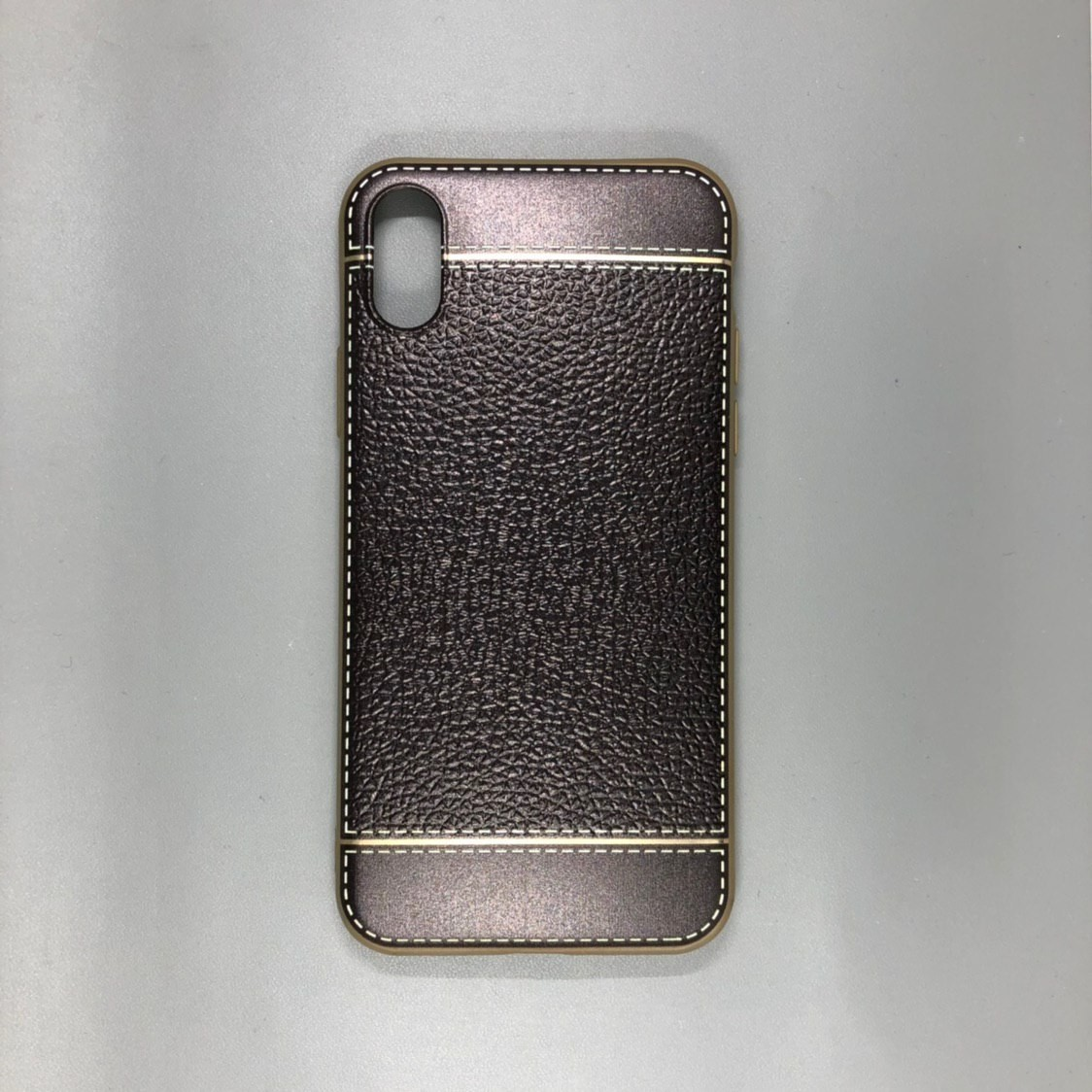 iPhone X Plastic Gold/Gray