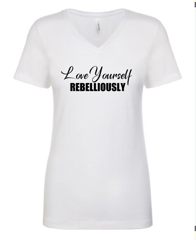 Ladies V-neck Teeshirt