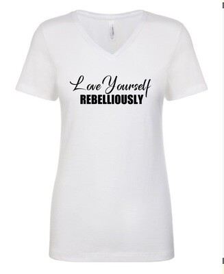 Ladies V-neck Teeshirt