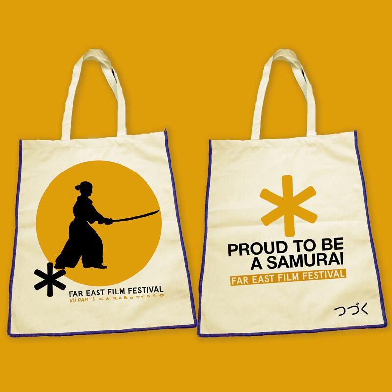 Golden samurai bag