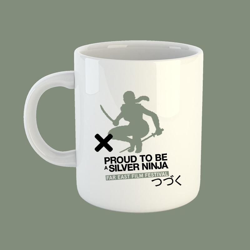 Silver ninja mug