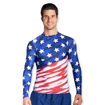 American Flag Rash Guard​