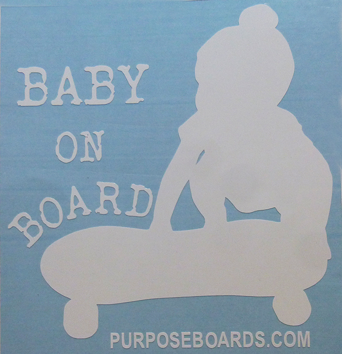 Baby On Board Vinyl - Peanut