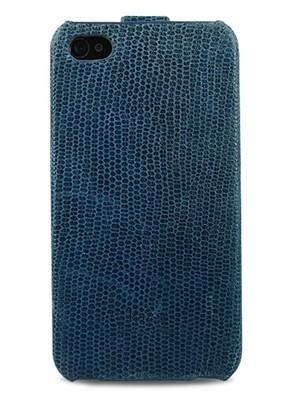 Чехол для iPhone 4/4S Kajsa Флип (Синий)