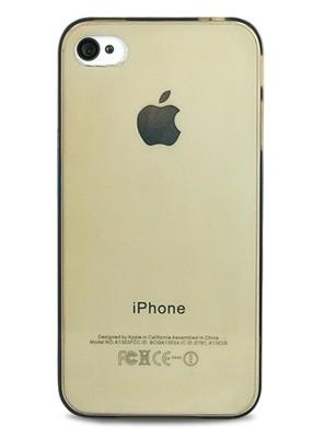 Чехол для iPhone 4/4S Ультратонкий силикон (Черный)