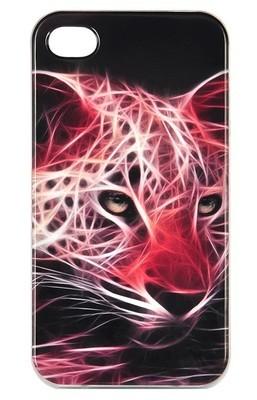 Чехол для iPhone 4/4S Pearl Print (Огненный леопард)