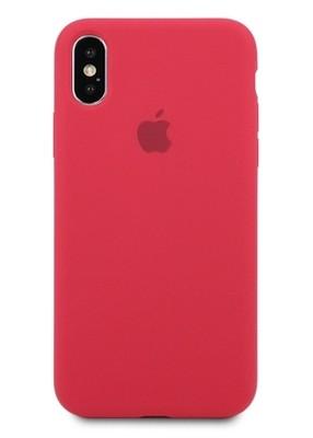 Чехол для iPhone X Apple Silicone Case 360 (Вишневый)