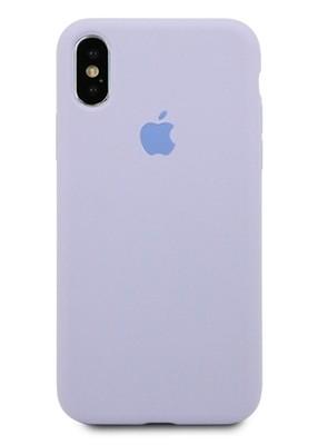 Чехол для iPhone X Apple Silicone Case 360 (Сиреневый)