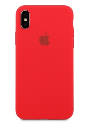 Чехол для iPhone X Apple Silicone Case 360 (Красный)