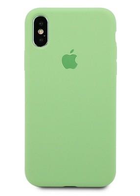 Чехол для iPhone X Apple Silicone Case 360 (Фисташковый)