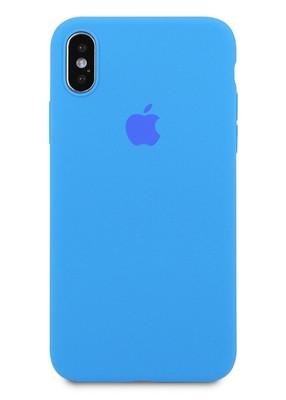 Чехол для iPhone X Apple Silicone Case 360 ультратонкий (Голубой)
