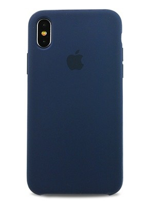 Чехол для iPhone X Apple Silicone Case Lux (Cosmos Blue)