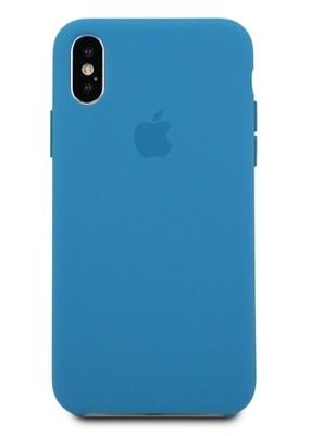 Чехол для iPhone X Apple Silicone Case Lux (Denim Blue)