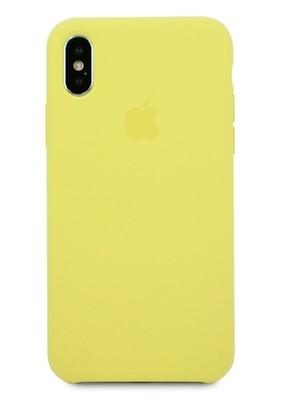 Чехол для iPhone X Apple Silicone Case Lux (Lemonade)