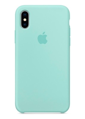 Чехол для iPhone X Apple Silicone Case Lux (Marine Green)