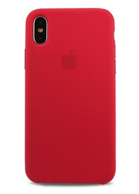 Чехол для iPhone X Apple Silicone Case Lux (Rose Red)