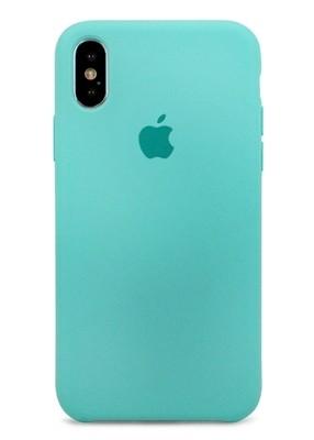 Чехол для iPhone X Apple Silicone Case Premium (Бирюзовый)