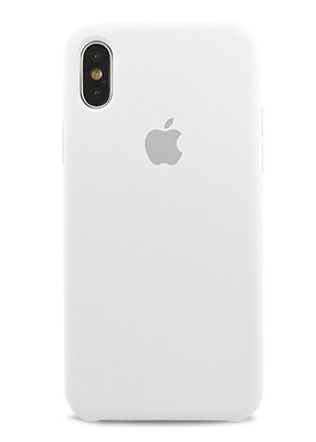 Чехол для iPhone X Apple Silicone Case Premium (Белый)