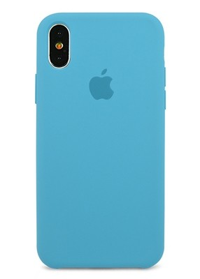 Чехол для iPhone X Apple Silicone Case Premium (Голубой)