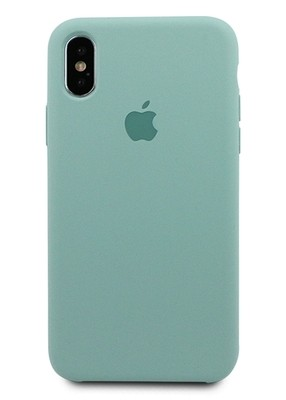Чехол для iPhone X Apple Silicone Case Premium (Бледно-бирюзовый)