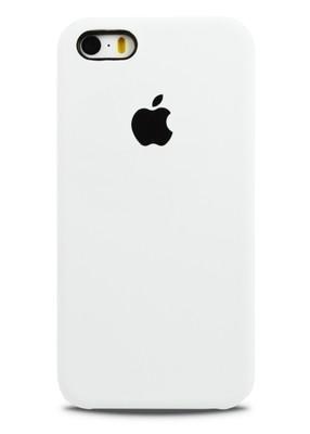 Чехол для iPhone 5/5S Apple Silicone Case Premium (Белый)