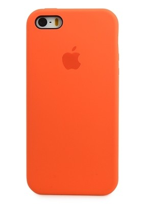 Чехол для iPhone 5/5S Apple Silicone Case Premium (Оранжевый)