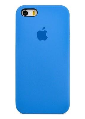 Чехол для iPhone 5/5S Apple Silicone Case Premium (Лазурный)