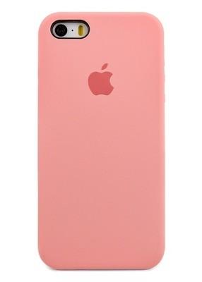Чехол для iPhone 5/5S Apple Silicone Case Premium (Розовый)