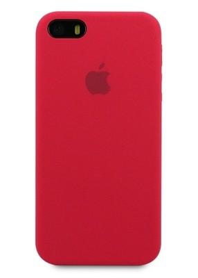 Чехол для iPhone 5/5S Apple Silicone Case Premium (Вишневый)