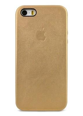 Чехол для iPhone 5/5S Apple Leather Case Premium (Золото)