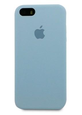 Чехол для iPhone 5/5S Apple Silicone Case Premium (Светло-голубой)