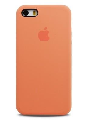 Чехол для iPhone 5/5S Apple Silicone Case Premium (Светло-оранжевый)