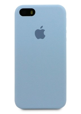 Чехол для iPhone 5/5S Apple Silicone Case Premium (Серо-голубой)